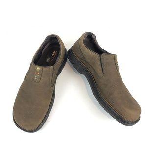 Like New Merrell World Legend Leather Slip on Shoe